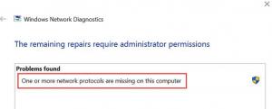Missing network protocols windows 10
